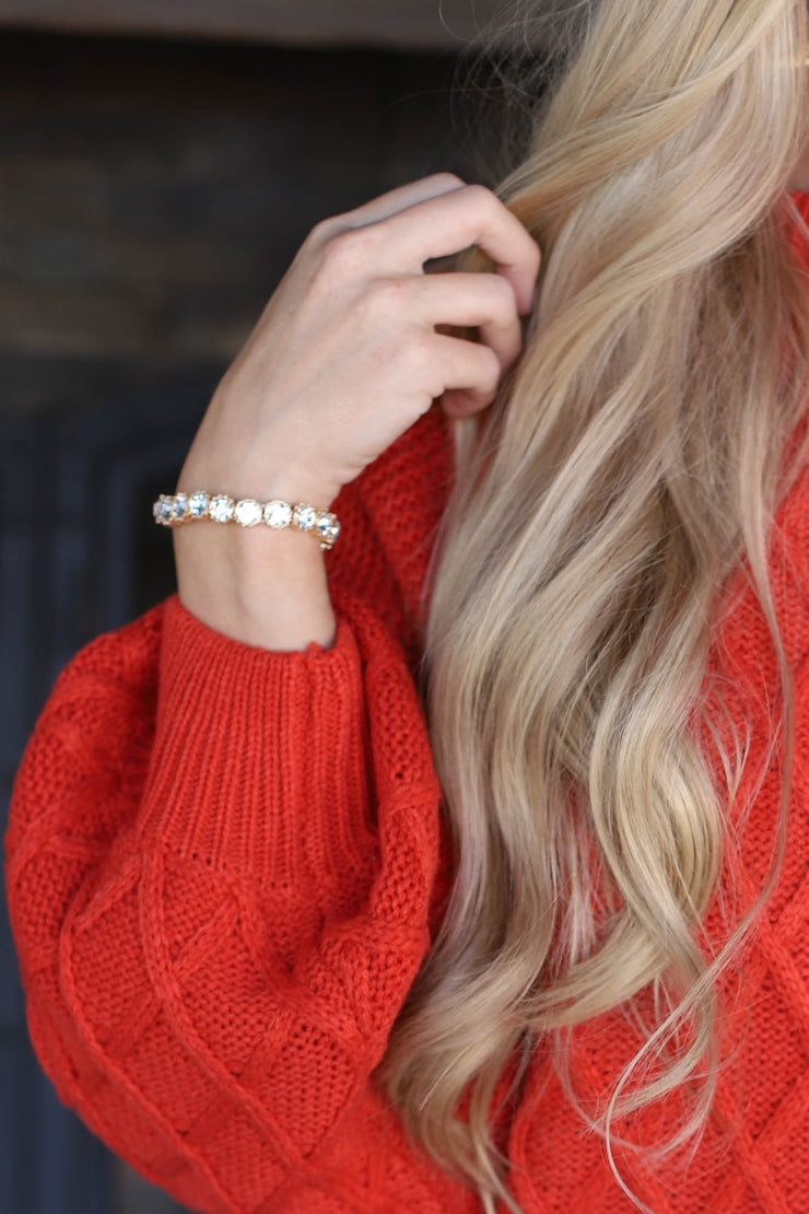 Maggie Bling Bracelet: Gold - ShopSpoiled