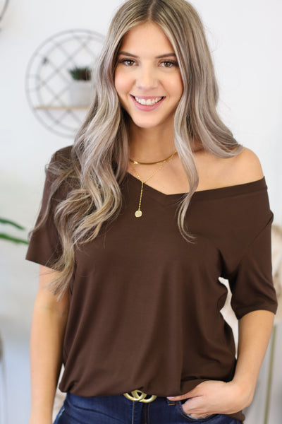 Forever Young Top: Mocha - ShopSpoiled