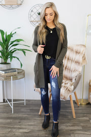 You Got This Cardigan: Olive - ShopSpoiled