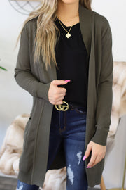 You Got This Cardigan: Olive - Shop Spoiled Boutique