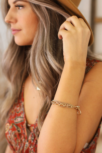 Let's Link Up Bracelet: GOLD - Shop Spoiled Boutique