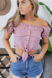 Keep in Mind Top: Mauve - ShopSpoiled
