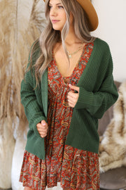 All I Really Want Cardigan: Green - ShopSpoiled