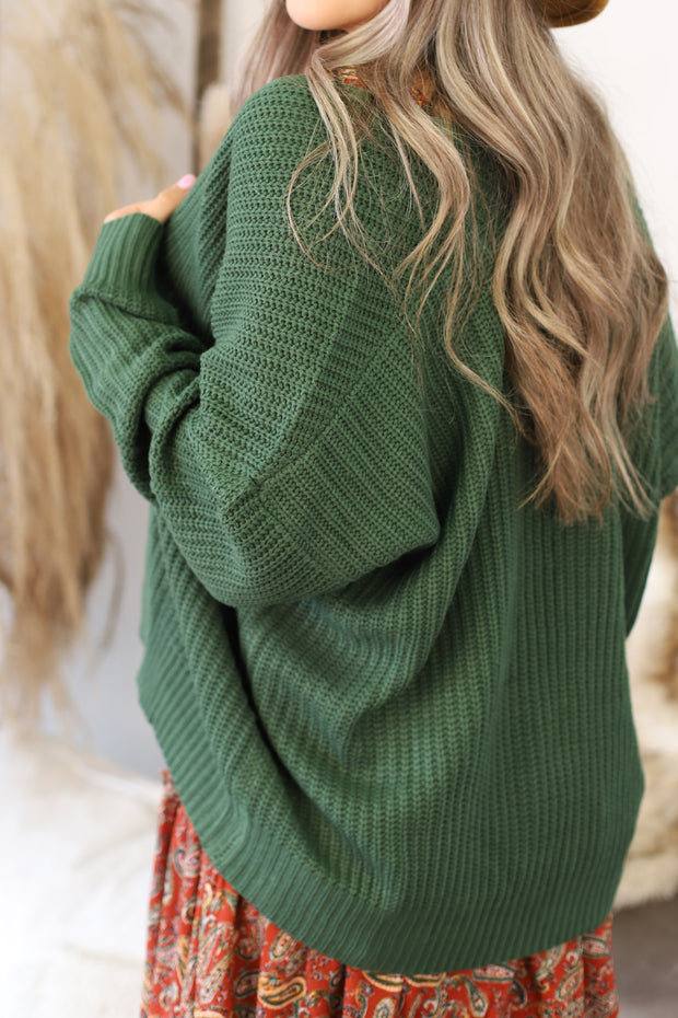 All I Really Want Cardigan: Green - Shop Spoiled Boutique