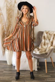 Canyon Moon Dress: Rust - Shop Spoiled Boutique