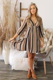 Canyon Moon Dress: Taupe - Shop Spoiled Boutique