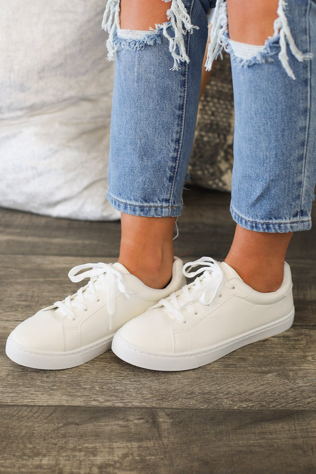 Girl Power Sneakers: White - ShopSpoiled
