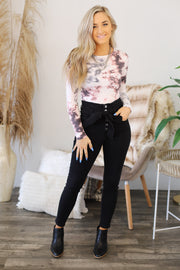 Chilled Out Bodysuit: Mauve - ShopSpoiled