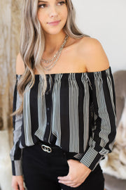Afternoon Daydream Top: Black - ShopSpoiled