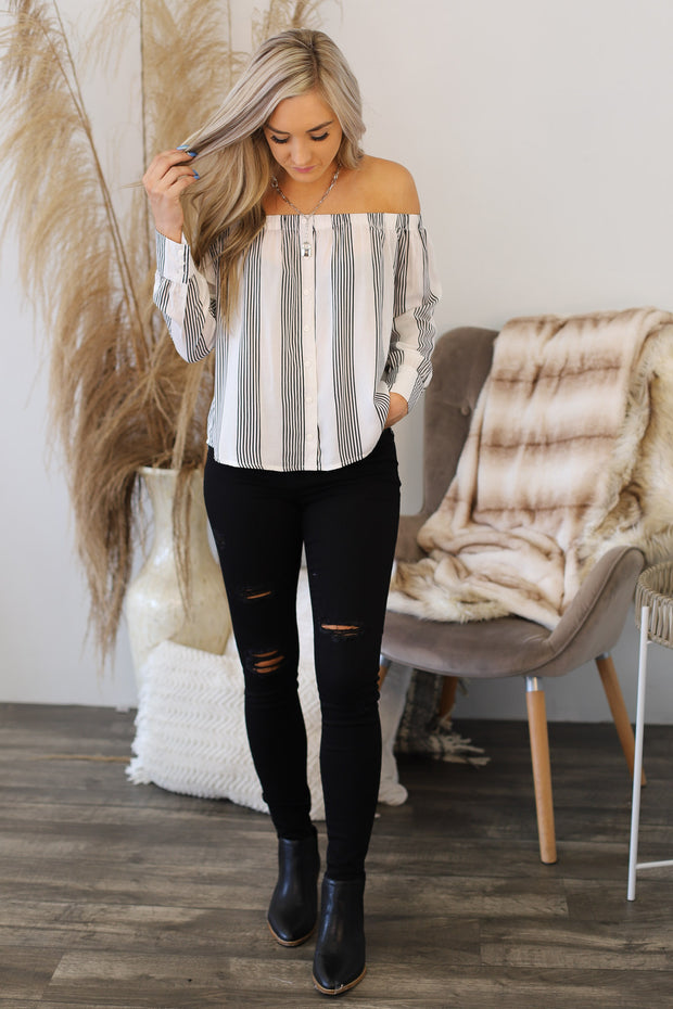 Afternoon Daydream Top: White - ShopSpoiled