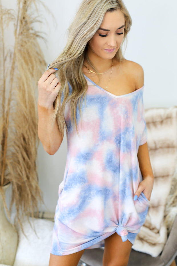 Cotton Candy Clouds Dress - ShopSpoiled