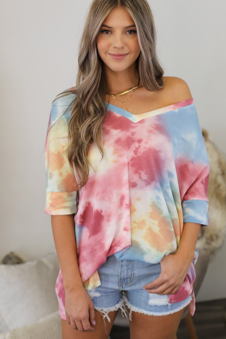 Summer Watercolors Top - ShopSpoiled
