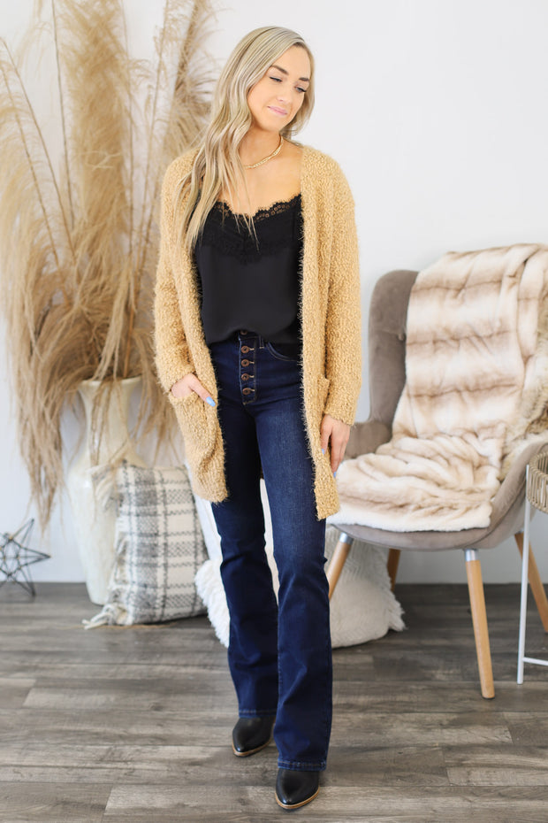 Only In Dreams Cardigan: Camel - ShopSpoiled