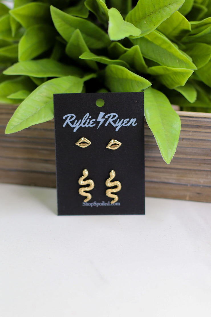 Wild Guess Earring Set: Gold - ShopSpoiled