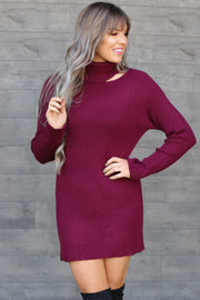 Sweet Society Dress: Wine - ShopSpoiled