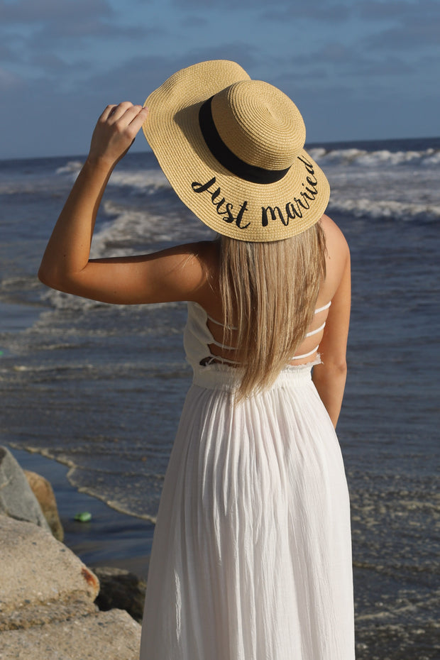 Just married sun hat - ShopSpoiled