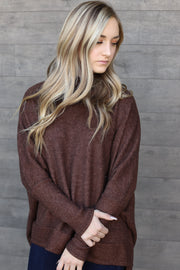 Kendall Sweater: Brown - ShopSpoiled