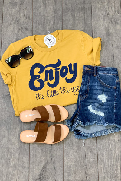 Enjoy The Little Things Tee - Shop Spoiled Boutique
