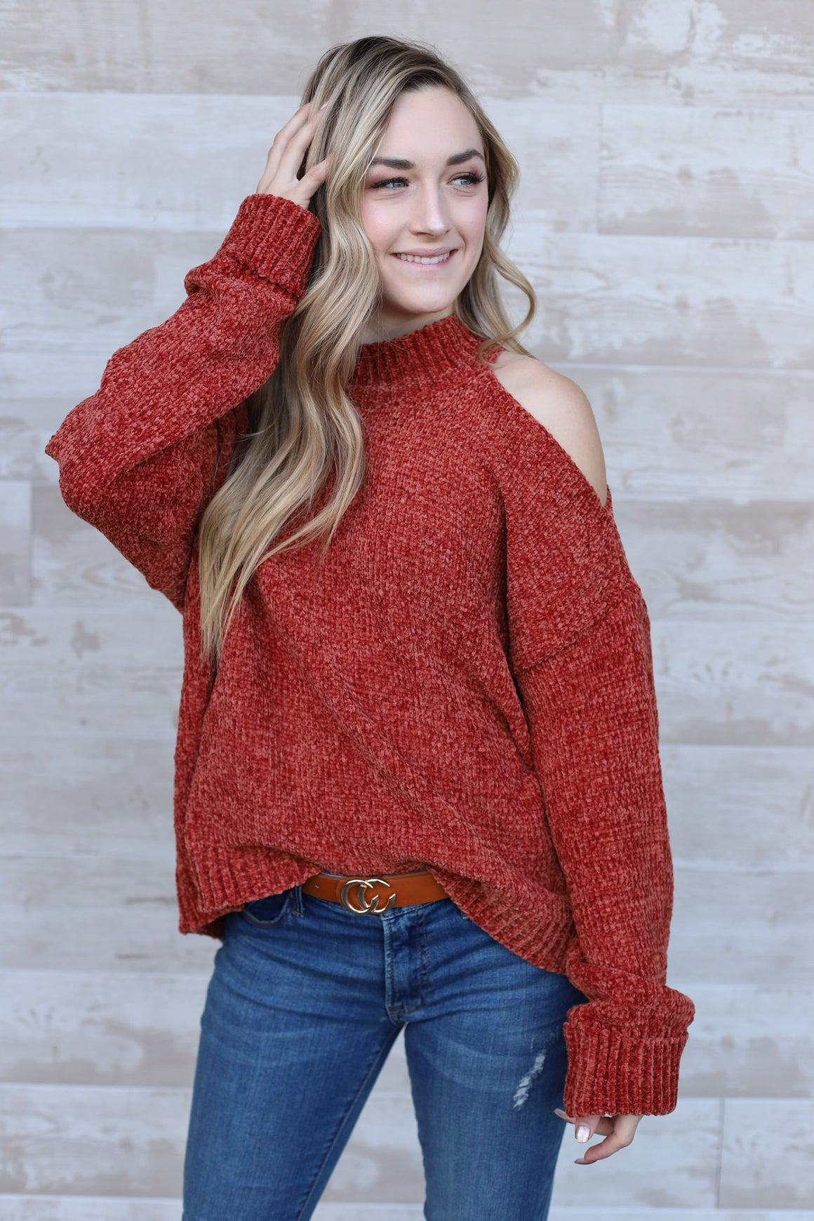 Lyanna Sweater - Rust - ShopSpoiled