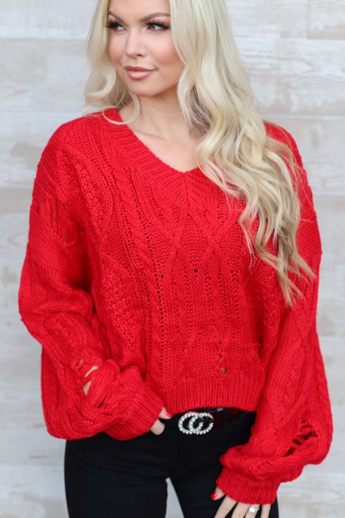 Santa's Favorite Sweater: Red - ShopSpoiled