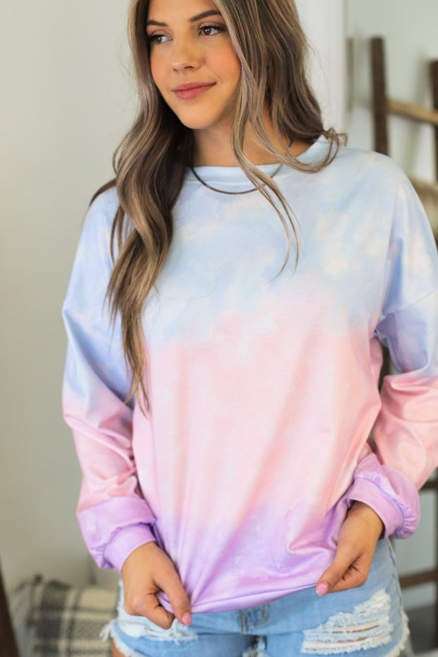 Cozy Living Pullover: Multi Tie Dye - ShopSpoiled
