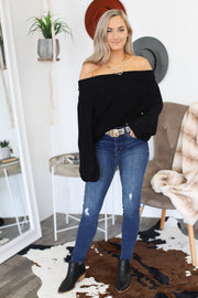All Warmed Up Sweater: Black - ShopSpoiled