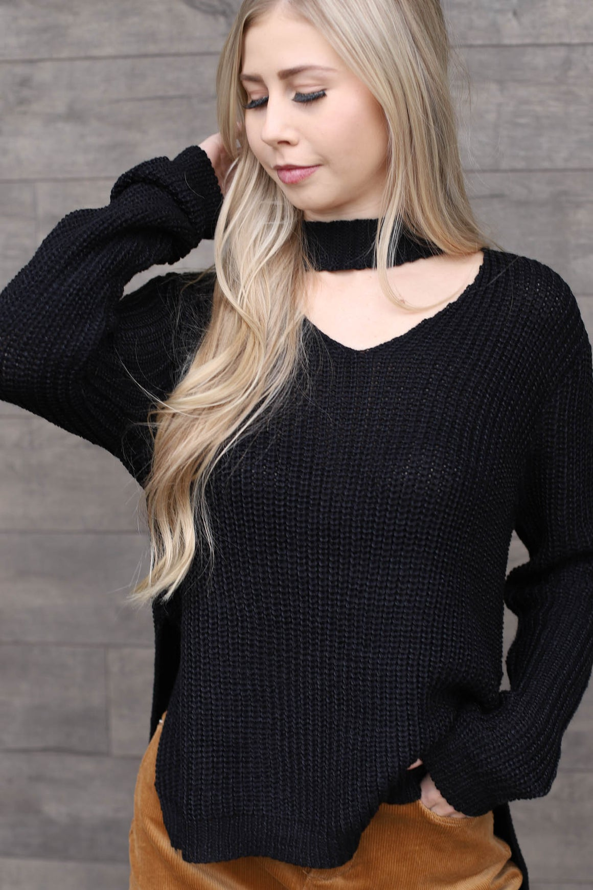 Crystal Sweater - Black - ShopSpoiled