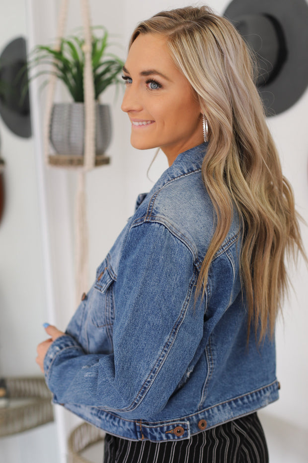 Sailor Distressed Denim Jacket - ShopSpoiled