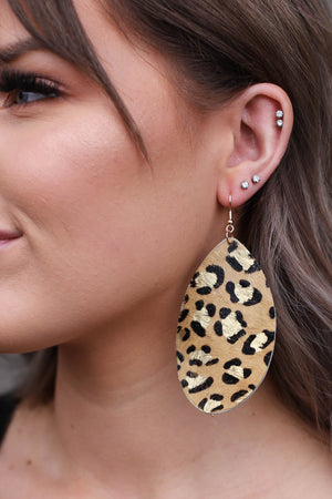 For Sure Leopard Earrings - ShopSpoiled