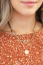 Up Your Game Necklace: Gold - ShopSpoiled