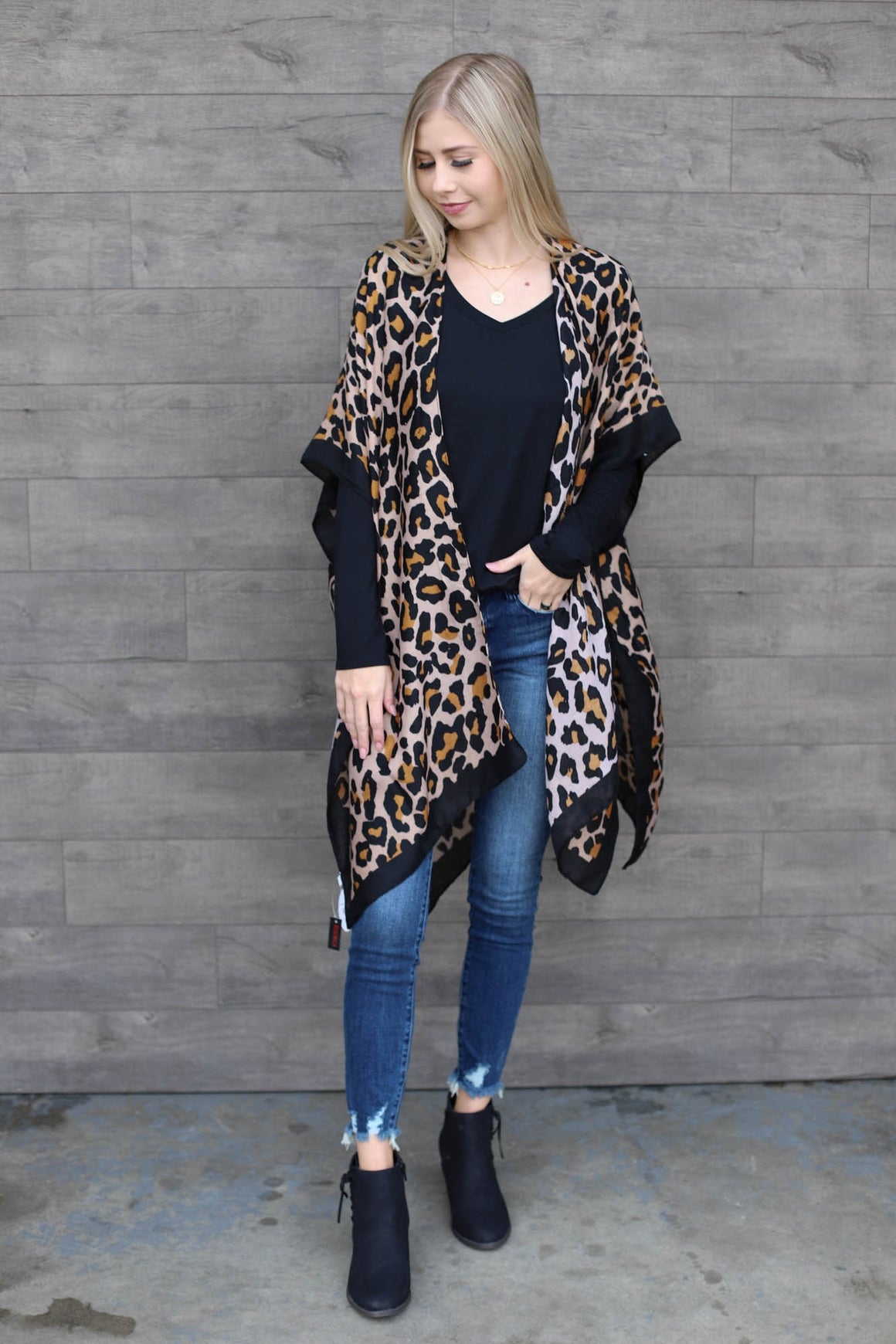 Leopard Shawl Coverup - ShopSpoiled