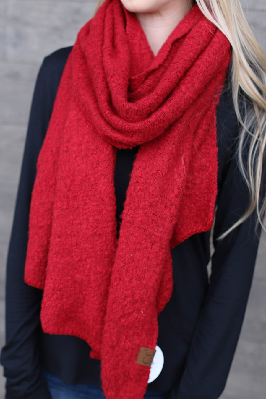 CC Scarf: Red - ShopSpoiled