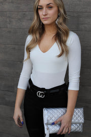The Perfect Day Bodysuit: Ivory - ShopSpoiled