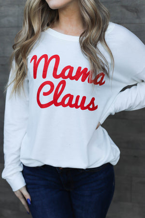Mama Claus Long Sleeve Top