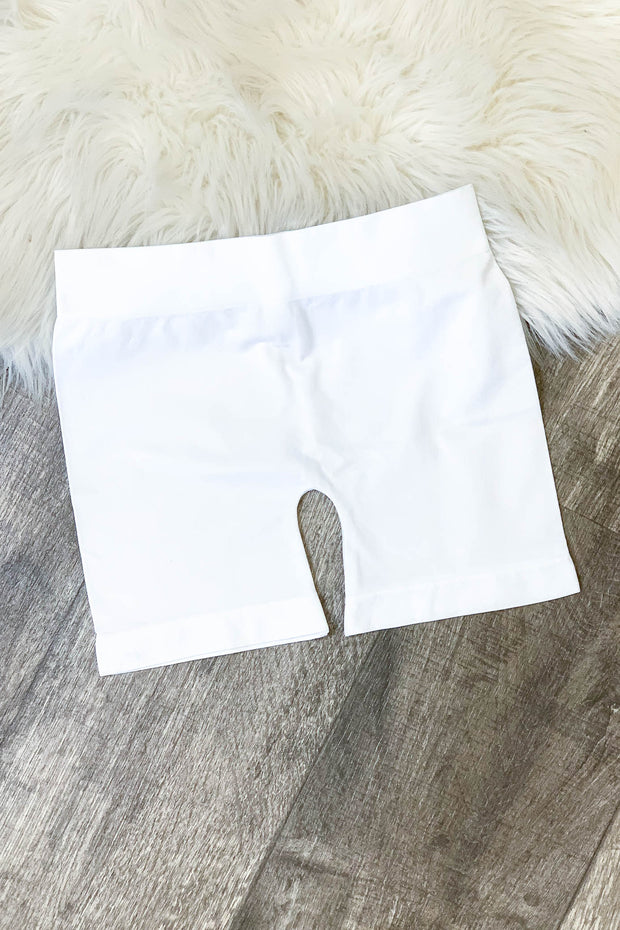 Slip Shorts: White - ShopSpoiled