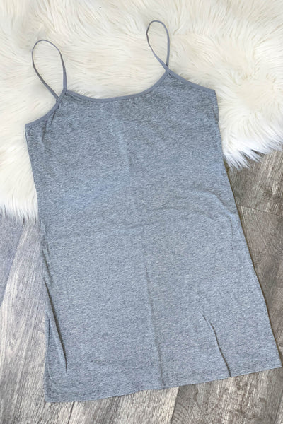 Xtra Cami: Grey - ShopSpoiled