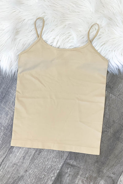 Basic Cami: Nude - ShopSpoiled