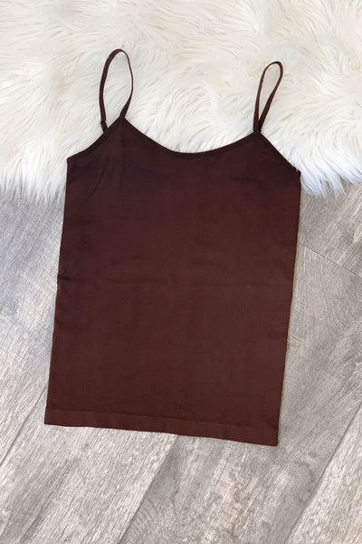 Basic Cami: Brown - Shop Spoiled Boutique