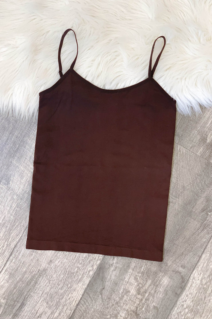 Basic Cami: Brown - ShopSpoiled