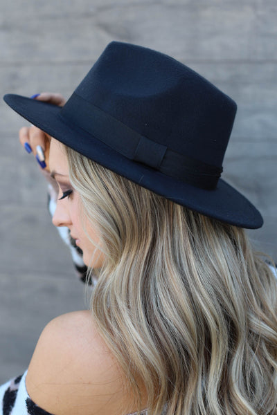 Panama Babe Hat: Black - ShopSpoiled