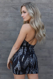 Born To Sparkle Dress: Black/Silver - ShopSpoiled