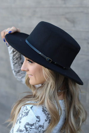 Black Band Hat - ShopSpoiled