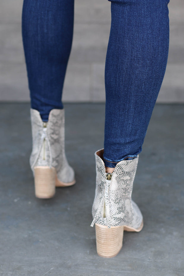 Wendy Snake Booties - ShopSpoiled