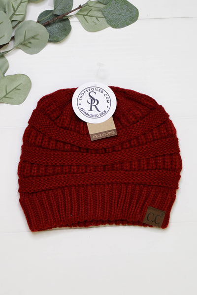 Basic CC Beanie: Red - ShopSpoiled