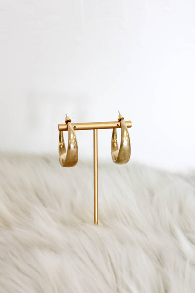 Round & Round Hoop Earrings: Gold - ShopSpoiled