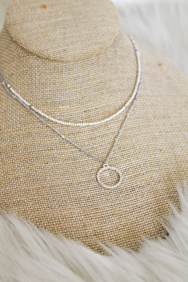 Sweetly Paired Necklace: Silver - ShopSpoiled