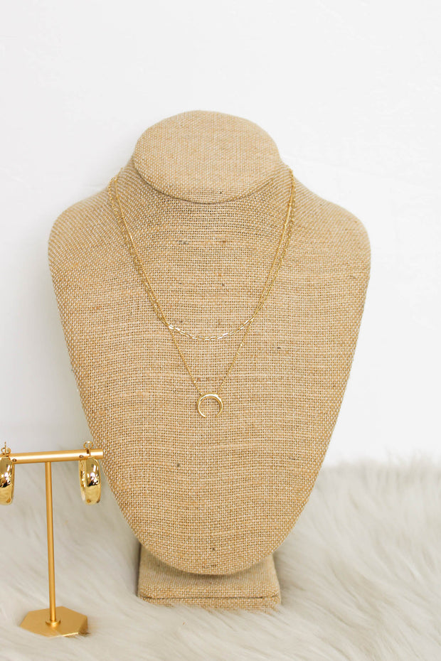 Hopeful Moments Necklace: Gold - ShopSpoiled