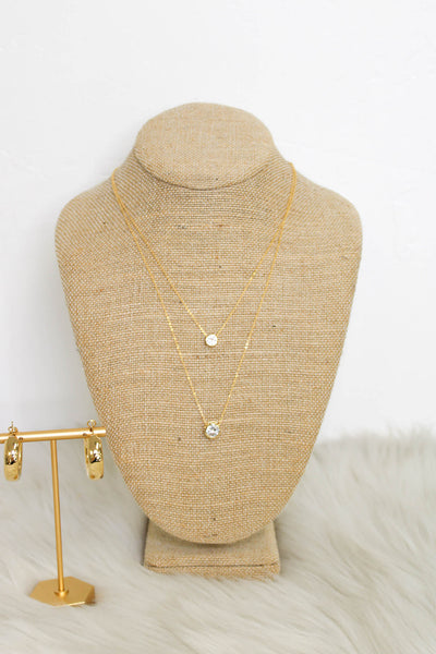 Simple Admiration Necklace: Gold - ShopSpoiled