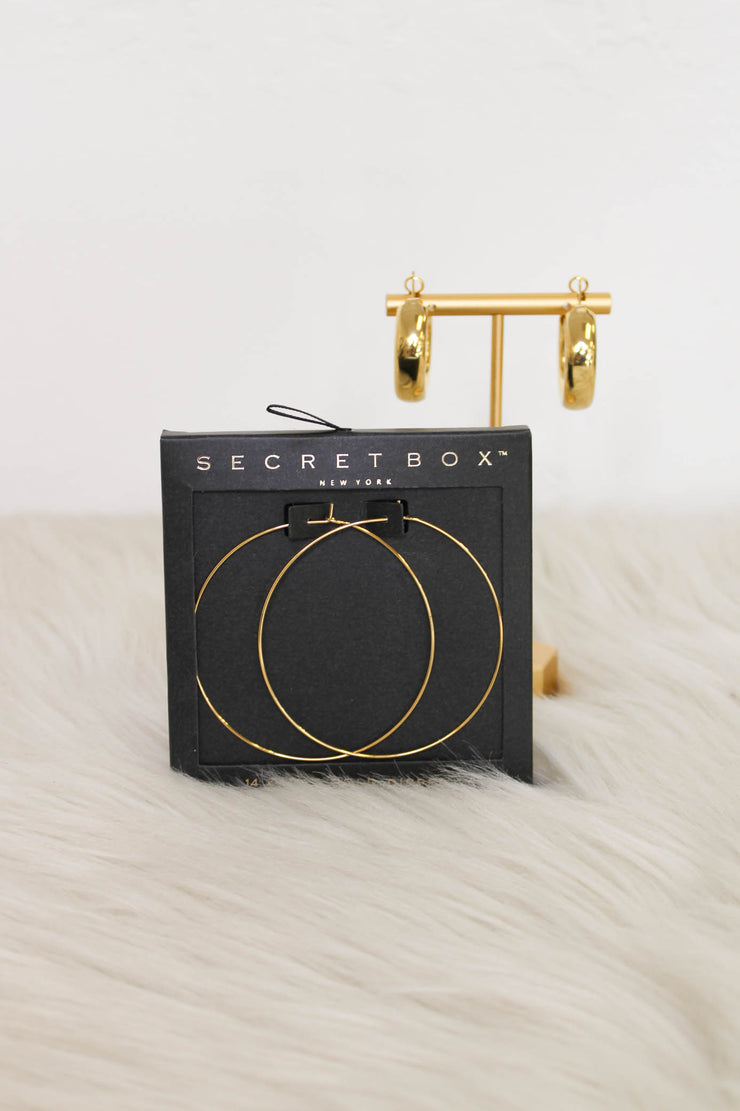 Kamryn Hoop Earrings: Gold - ShopSpoiled