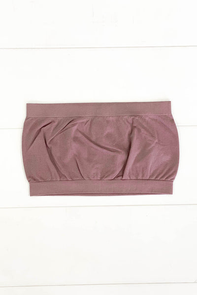 Basic Bandeau: Mauve - ShopSpoiled